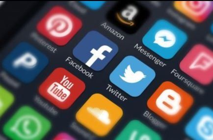photo of social media apps on smartphone