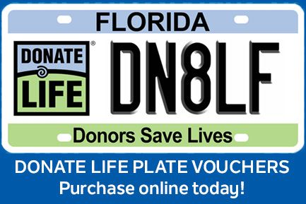 Donate Life plate vouchers - purchase online today