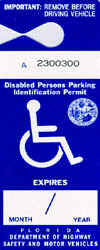 Handicap Parking Placards